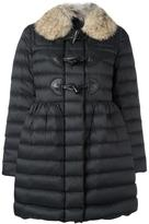 RED Valentino fur collar duffle coat