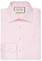 Thomas Pink Slim Fit Solid Oxford Traveler Dress Shirt