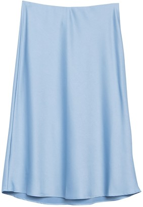 Vanity Room Satin Slip Midi Skirt