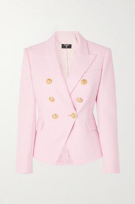 Balmain - Double-breasted Cotton-pique Blazer - Pink