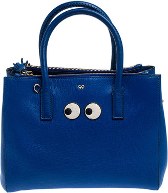 Anya Hindmarch Blue Leather Ebury Tote