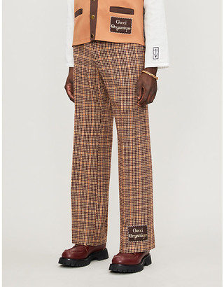 Gucci Orgasmique flared wool-blend trousers
