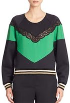 Stella McCartney Colorblock Neoprene Sweatshirt