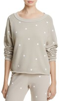 Wildfox Couture Football Star Crop Sweatshirt