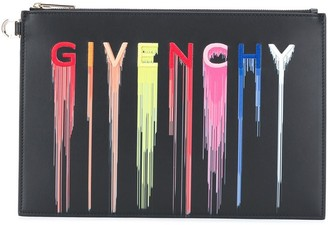 Givenchy Logo-Print Clutch