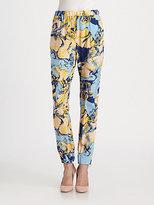 By Malene Birger Printed Silk Pants