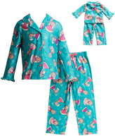 Dollie & Me Teal Ice Princess Sleep Top Set & Doll Outfit - Girls