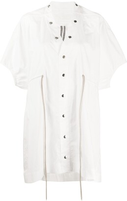 Rick Owens Sail drawstring-waist shirt dress