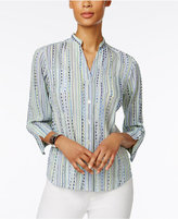 Alfred Dunner Cable Beach Printed Shirt