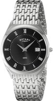 Rotary Men's gb08000/04 Analog Display Swiss Quartz Silver Watch