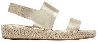 Cole Haan CloudFeel Metallic Leather Espadrille Sandals