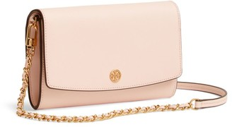 Tory Burch Robinson Leather Wallet-On-Chain