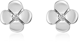 Forzieri 0.055 ct Diamond Flower 18K Gold Earrings