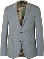 Valentino - Slim-fit Checked Virgin Wool Suit Jacket