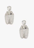 Bebe Stone & Pyramid Drop Earrings