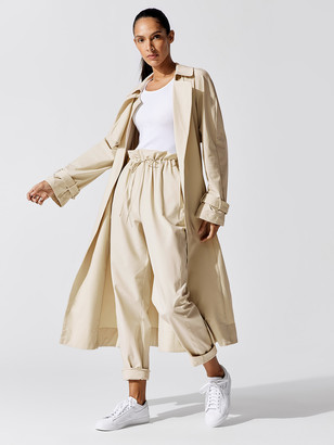 Carbon38 Stretch Woven Trench Coat