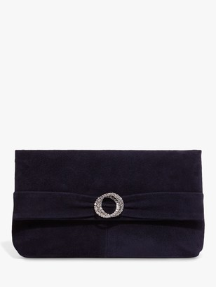 Phase Eight Joelle Jewel Suede Clutch Bag