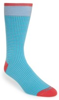 Lorenzo Uomo Men's Houndstooth Socks