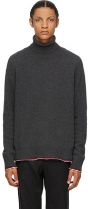 Maison Margiela Grey Cashmere Elbow Patch Turtleneck