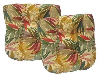 Beachcrest Home Arin Tufted Indoor/Outdoor Dining Chair Cushion
