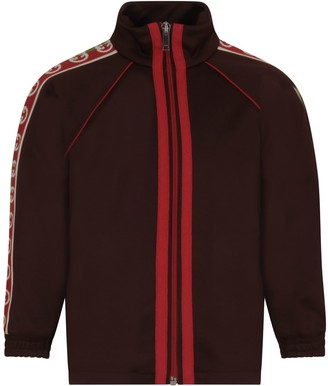 Gucci Brown Sweatshirt With Double Gg For Boy