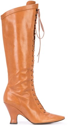 Marc Jacobs tall Victorian boots