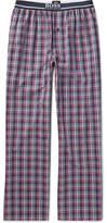 HUGO BOSS Checked Cotton-poplin Pyjama Trousers - Blue