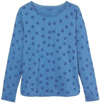 White Stuff Carly Fairtrade Jersey Tee 430464 - 8 | blue | cotton - Blue/Blue
