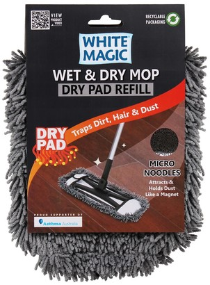 White Magic Dry Mop Pad Refill