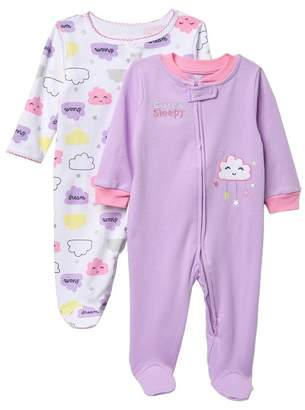 Koala Baby Sleep-N-Play Pajamas - Pack of 2 (Baby Girls)