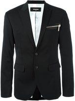 DSQUARED2 'London Tux' jacket - men - Cotton/Leather/Polyester/Virgin Wool - 48