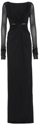Rick Owens Lilies cotton-blend jersey gown