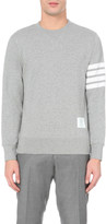 Thom Browne Striped-detail cotton-jersey sweatshirt