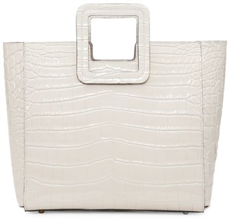 STAUD Shirley Croc-Embossed Leather Tote
