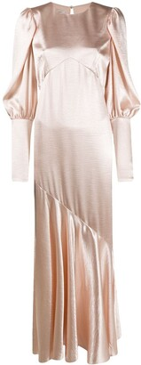 Philosophy di Lorenzo Serafini Bias Cut Draped Gown