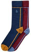 Burton Burton Original Penguin Navy And Burgundy One Stripe Socks