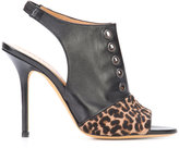 Alexa Wagner leopard print panel sandals - women - Leather/Calf Hair - 36