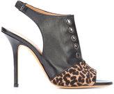 Alexa Wagner leopard print panel sandals - women - Leather/Calf Hair - 36