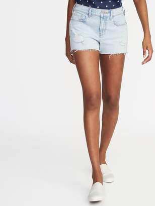 Old Navy Distressed Boyfriend Jean Cut-Off Shorts for Women - 3-inch inseam