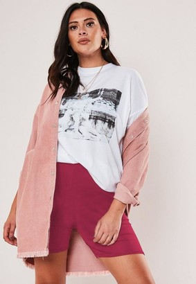 Missguided Size Pink Jersey Cycling Shorts