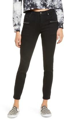 1822 Denim Zip Patch Pocket Skinny Jeans
