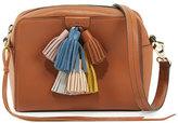 Rebecca Minkoff Sofia Leather Tassel Crossbody Bag, Almond/Multi