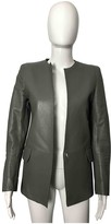 CNC Costume National Grey Leather Leather Jacket for Women