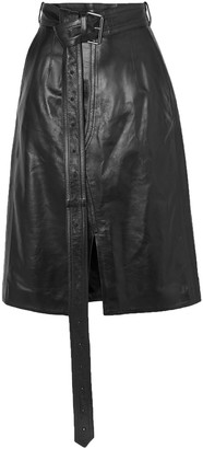 Marni Belted Leather Skirt