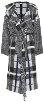 Stella McCartney Checked wool and mohair-blend coat