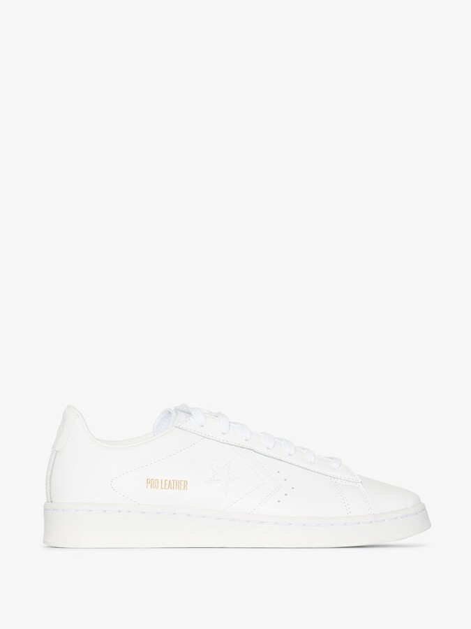 Thumbnail for your product : Converse White Pro Low Top Leather Sneakers