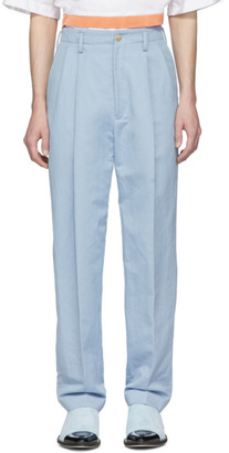 Haider Ackermann Blue High-Waist Trousers