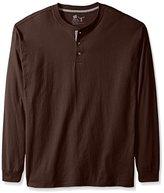 Hanes Men's Long-Sleeve Beefy Henley Shirt