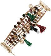 Rosantica Gitana gold-tone, bead and tassel bracelet