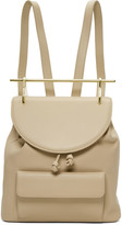 M2Malletier Beige Leather Single Backpack